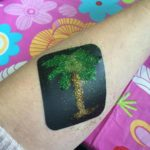 Palmboom met 4 kleuren glitters