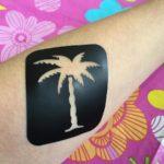 Glittersjabloon palmboom