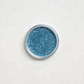 Glitter lichtblauw 10 ml potjes