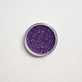 Lila glitters in potjes van 6 gram