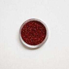 Rode glitters voor glittertattoos